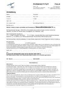 Anmeldung Gesundheitsberater Karriere